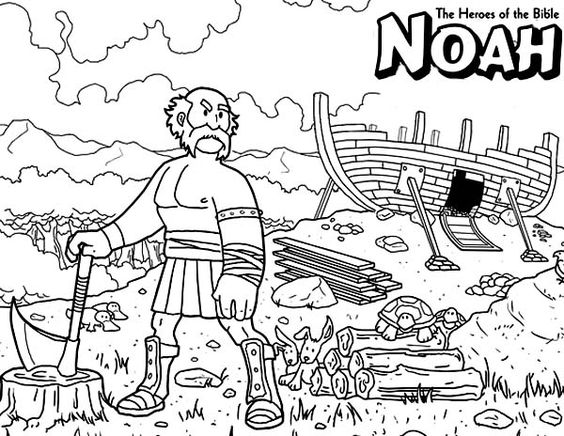 Noah The Bible Heroes Coloring Page