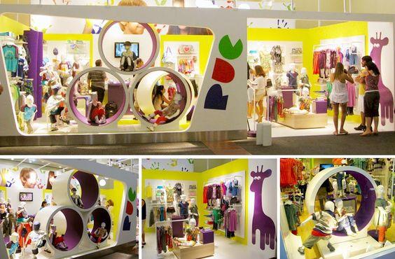 lojas de roupas infantil criativas