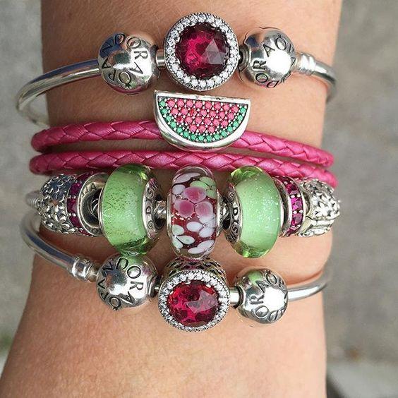 Tendance Bracelets  It may be September but it still feels like summer! Cerise Radiants hearts are
