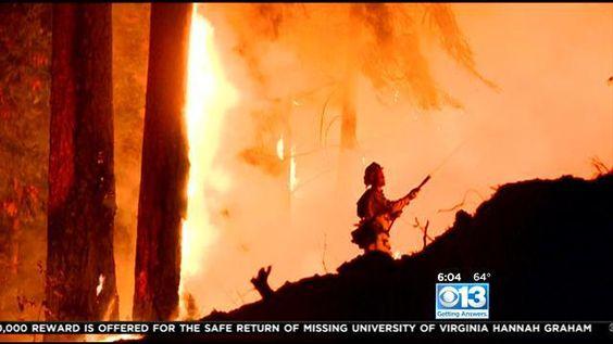Crews Keep King Fire In Check DespiteWinds - CBS Sacramento
