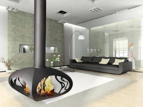 cheminee suspendue contemporaine foyer ouvert. Black Bedroom Furniture Sets. Home Design Ideas