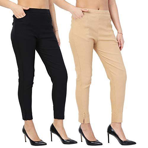 Istyle Can Women S Cotton Regular Fit Pants Mustard Medium
