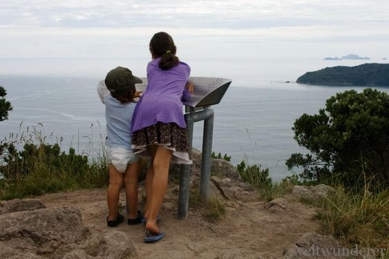 Tairua Mount Paku - my little big ones in our NZ family paradise