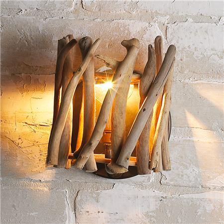 Wall Sconces Driftwood : Sconces, Wall sconces and Driftwood crafts on Pinterest