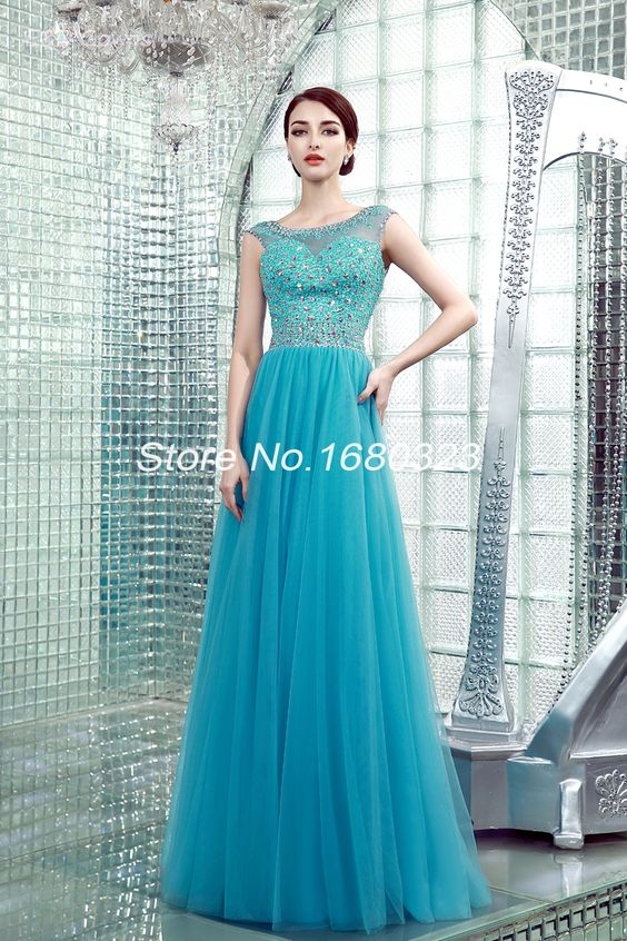 Find More Evening Dresses Information about Hot Sale Long Dress Vestidos De Festa Longo Scoop Neckline Sleeveless Low Back Heavy Beading Tulle Evening Gowns,High Quality Evening Dresses from E&D GOWNS on Aliexpress.com