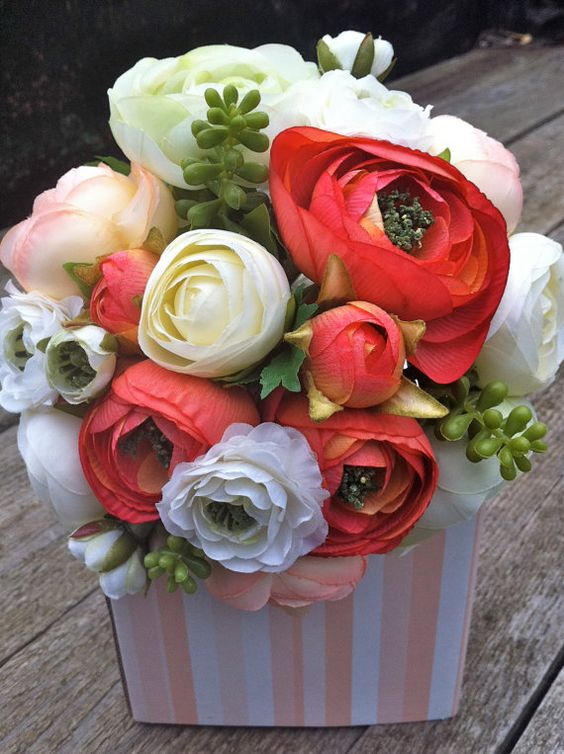 Citrus Brides Bouquet by flowersbythevase on Etsy, $59.99