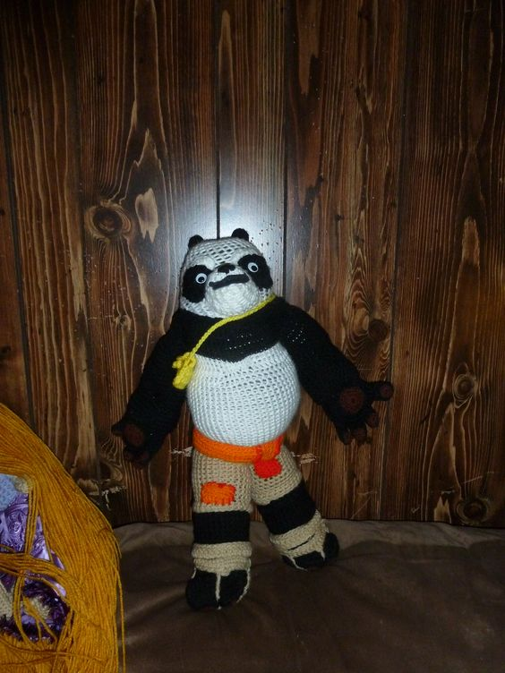 this is Kung-Fu Panda my first Toy crocheted i made