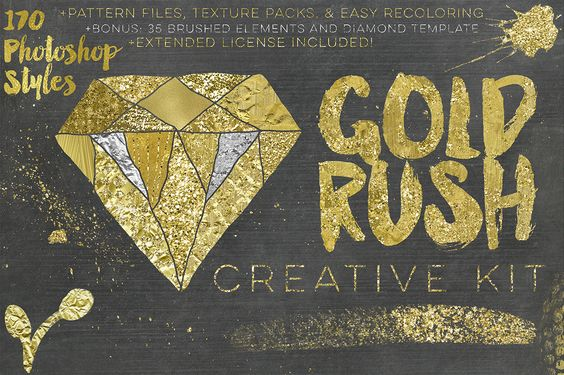 20% Off Gold Rush Creative Kit - Layer Styles - 1