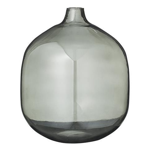 clearance bloomingville rounded smoke grey glass vase products smoke and glass vase. Black Bedroom Furniture Sets. Home Design Ideas