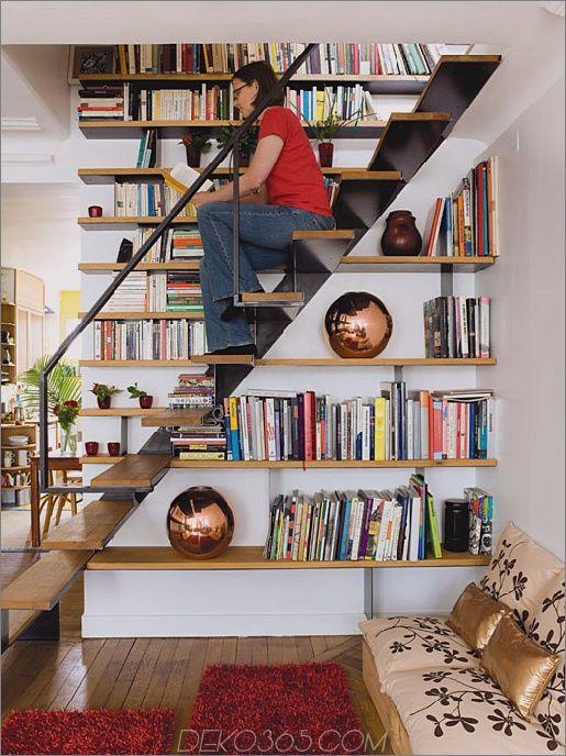 20 Moglichkeiten Aus Treppen Eine Erstaunliche Bibliothek Zu Handen Bucherregale Zu Zeugen Treppe Verschonerung Treppenhaus Bucherregal Und Treppendekor
