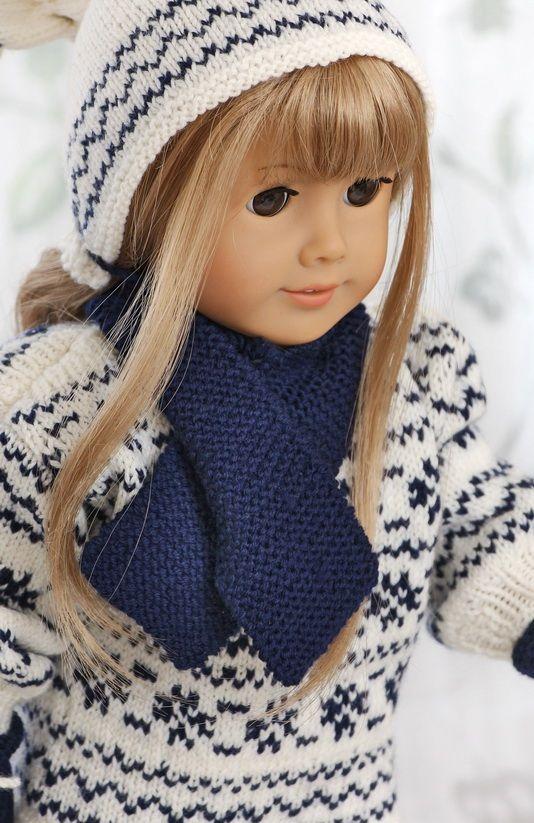 Strickanleitung fur puppenpuppenkleidung - Pullover in einem anderen typisch norwegischen Muster