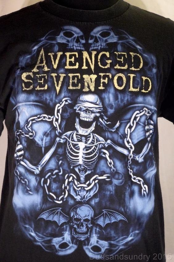 Avenged Sevenfold 2010 Nightmare Concert Tour T-Shirt Black Size L Heavy Metal #AlstyleApparel #BasicTee