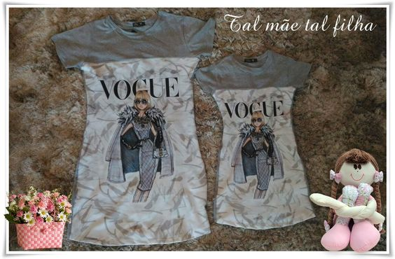 Vestido Vogue Adulto e Infantil | Tal mãe Tal filha