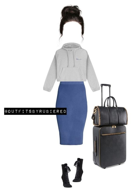 """""""Airport Style."""" by outfitsbyrubiered ❤ liked on Polyvore featuring Vetements, Giuseppe Zanotti and STELLA McCARTNEY"""