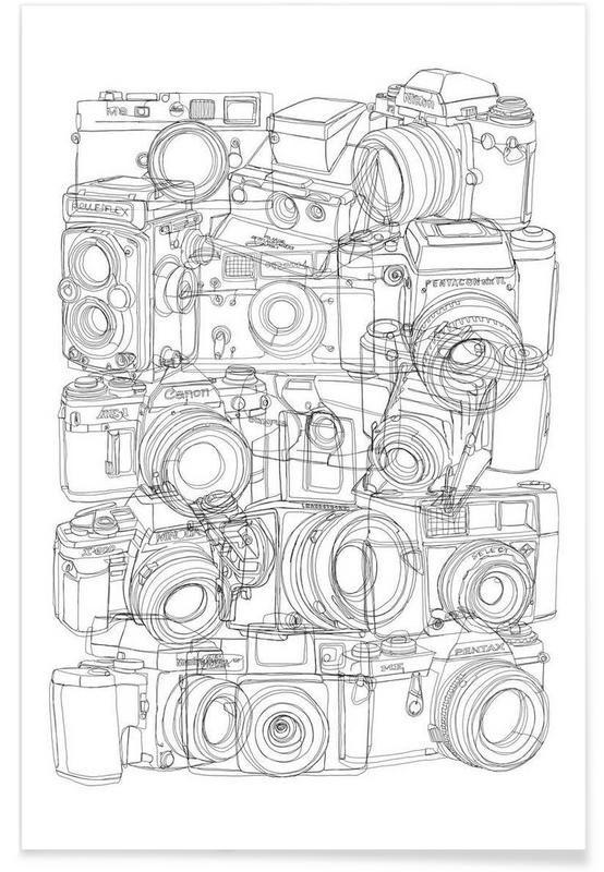 JUNIQUE Camera BW als Premium Poster