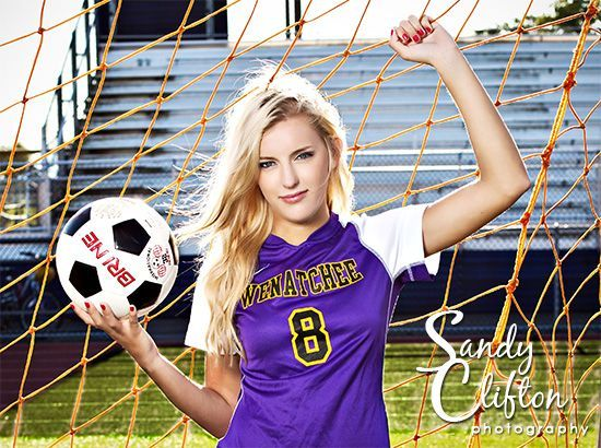 Good Sporty Photo Except With A Volleyball Of Course Lol Soccer Senior Pictures Soccer Senior Photos Soccer Photography