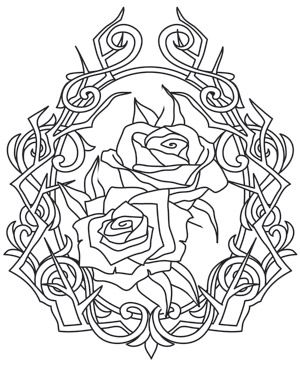 Rose and Thorn Cameo | Urban Threads: Unique and Awesome Embroidery Designs