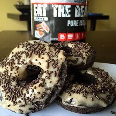 Ice Cream Sandwich Frosted Chocolate Protein Donuts Recipe – ETBFit