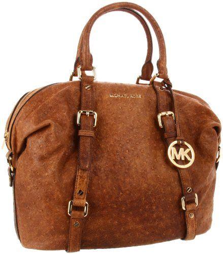 Amazon.com: MICHAEL Michael Kors Bedford Large Satchel - Vintage Ostrich Satchel Handbags -