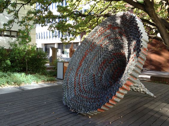 Vortex by David Jensz. Made from corrugated iron.
