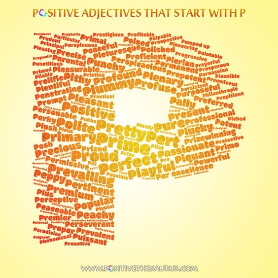Positive Adjectives That Start With P Positive Adjectives