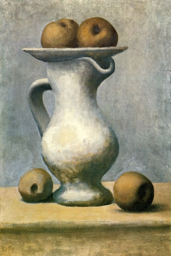 Still Life with a Pitcher and Apples by Pablo Picasso - canvas print