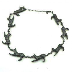 $5.21 Fashion Little Dog Embellished Alloy Necklace For Women