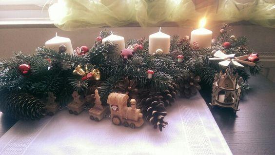Unser Weihnachtsgesteckt