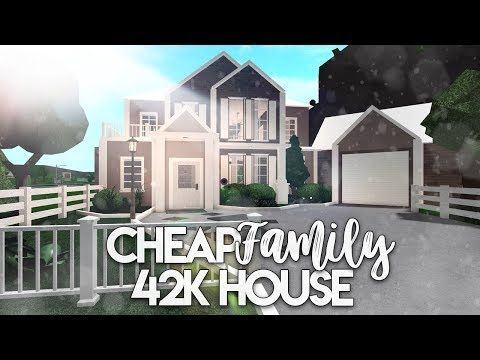Roblox Bloxburg Cheap Family House House Build Youtube