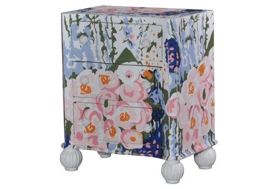 Turing Nightstand, Blue/Pink