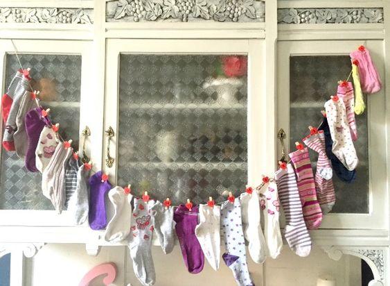 Calendario dell'Avvento con i calzini spaiati - Cento per cento mamma