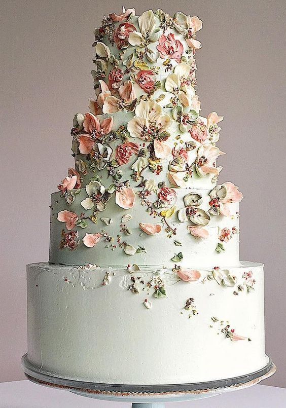 Buttercream wedding cakes from cynzcakes
