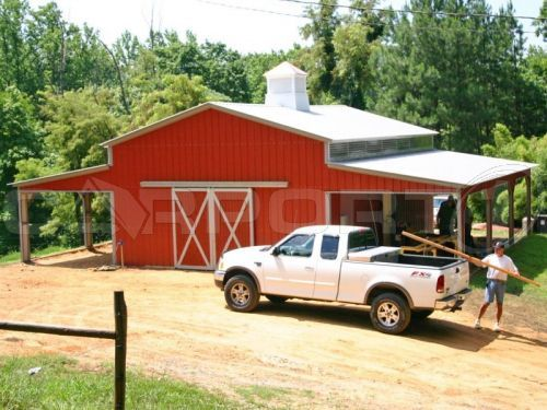 We fc metals and metal barn on pinterest for Red metal barn