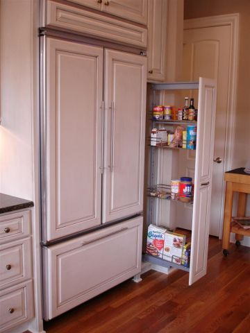 Cabinet Covered Built In Refrigerator Dream Home