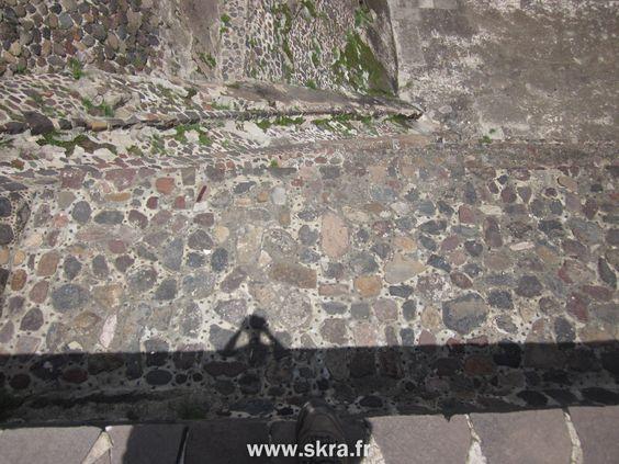 Depuis la pyramide de la Lune, ruines aztèques de Teotihuacan, Mexico