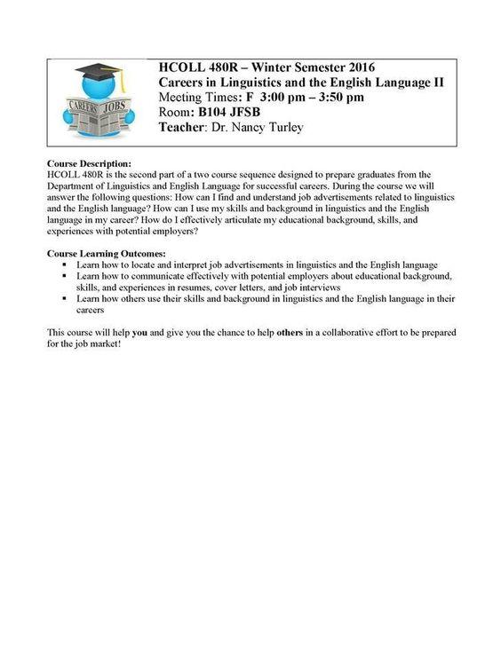 Dear Students, Attached is a flyer about a paid internship - english teacher job description