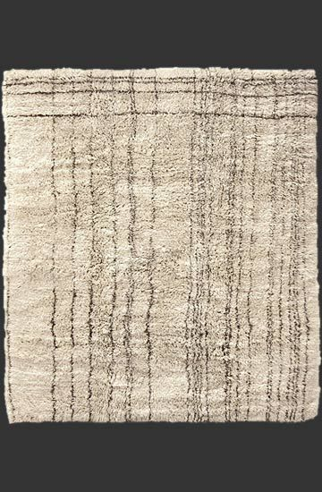 design 'Matrix' from the 'Le Maroc Blanc' collection, deep pile Moroccan structure, made from Middle + High Atlas wool