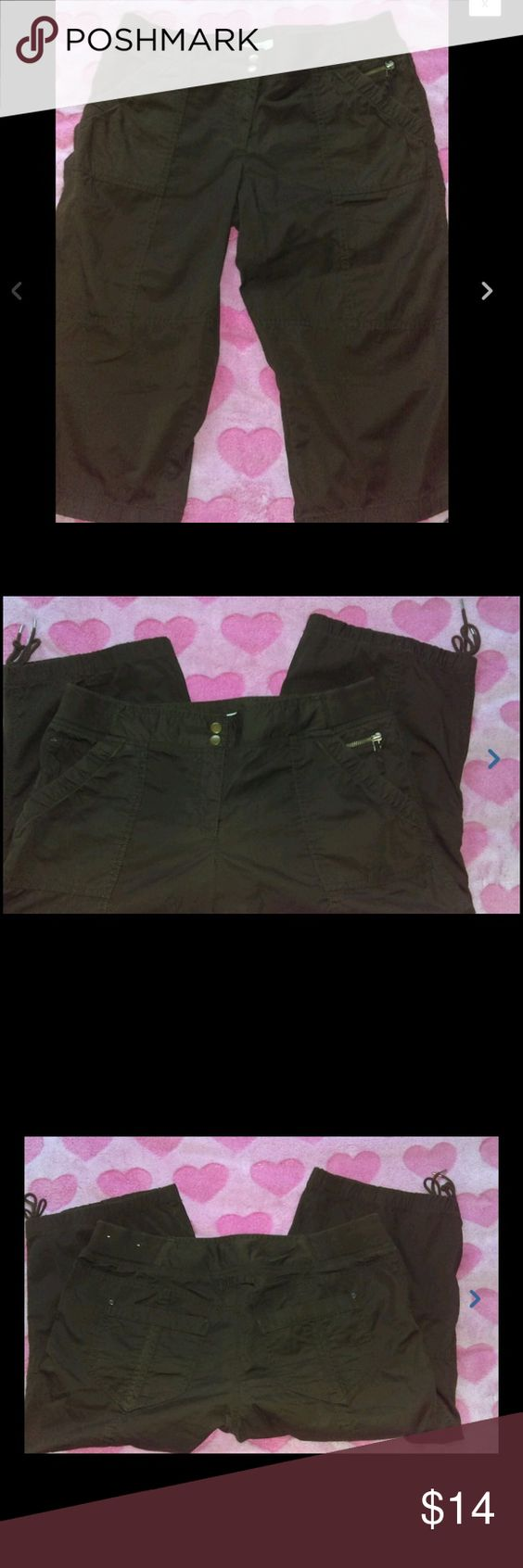 100% cotton chocolate brown Capri pants | Chocolate Brown, Ann ...