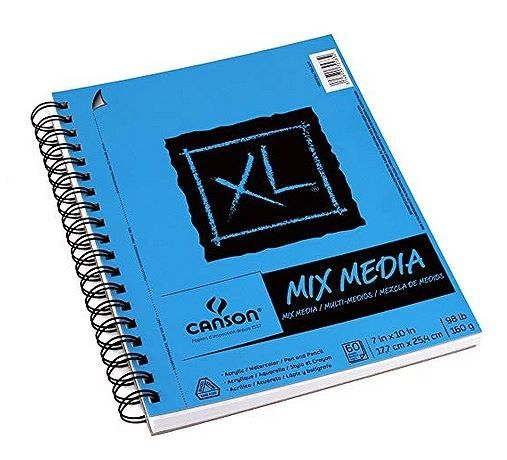 Canson Xl Series Mix Media Pad Mixed Media Sketch Pad Sketch Book Crayon Drawings Learn To Sketch
