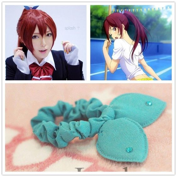 Japan Anime FREE! Iwatobi Swim Club Go Matsuoka Cosplay CUTE Hair Band Ribbon