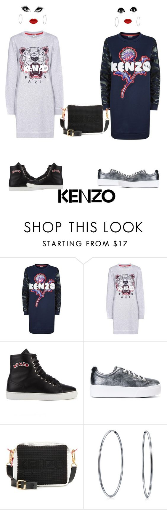 """""""Kenzo sweatshirt dress"""" by ms-hinds ❤ liked on Polyvore featuring Kenzo and Bling Jewelry"""