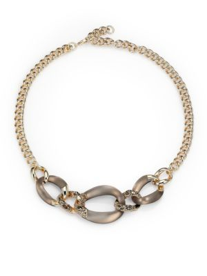 Alexis Bittar - Lucite & Crystal Curb Chain Necklace - Saks.com