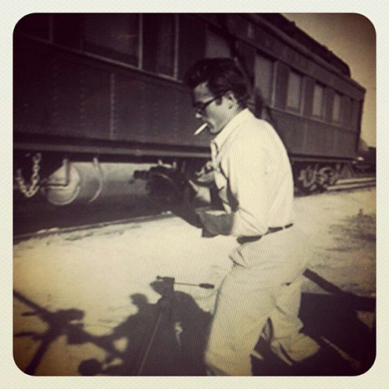 James Dean with his camera