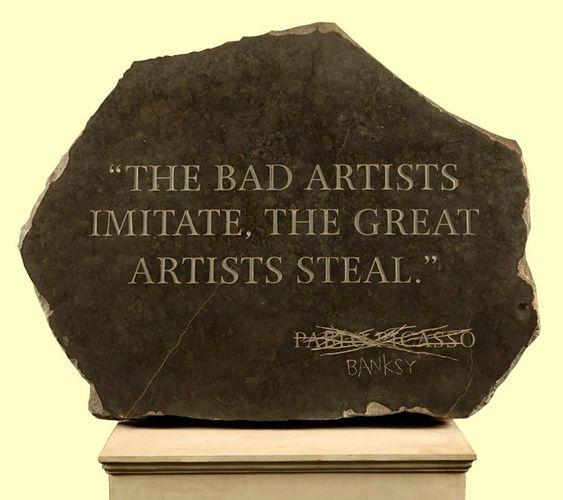 Banksy on artists.