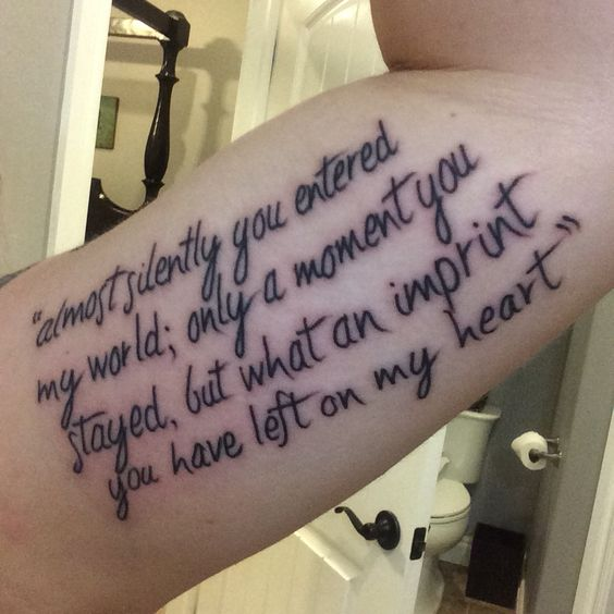 Tattoo Quotes For Unborn Baby: Tattoo In Memory Of My Unborn Child... I Will Forever Love