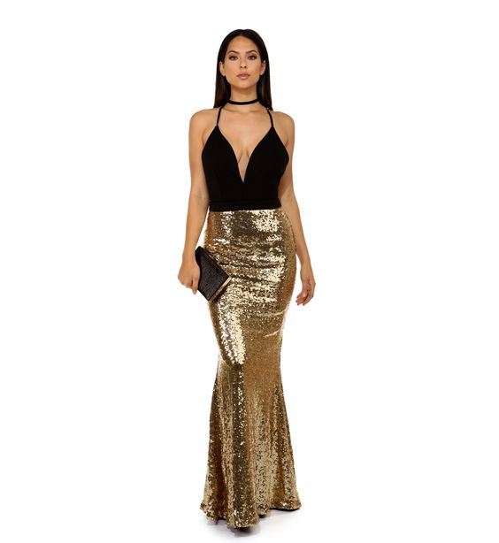 Naria Gold Glamour Gown