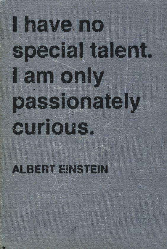 Einstein was a man of perception, not just physics...