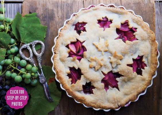 Grape & Apple Pie. This sounds sooo good;grapes and apples! You could use a premade pie crust if you're short on time!