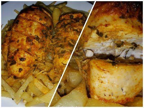 فكرة عشاء صدر دجاج في الفرن صحي بتتبيلة روعة سهل وسريع Youtube Helthy Food Food Snacks