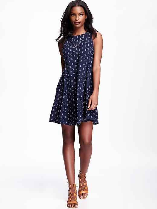 This navy swing dress.